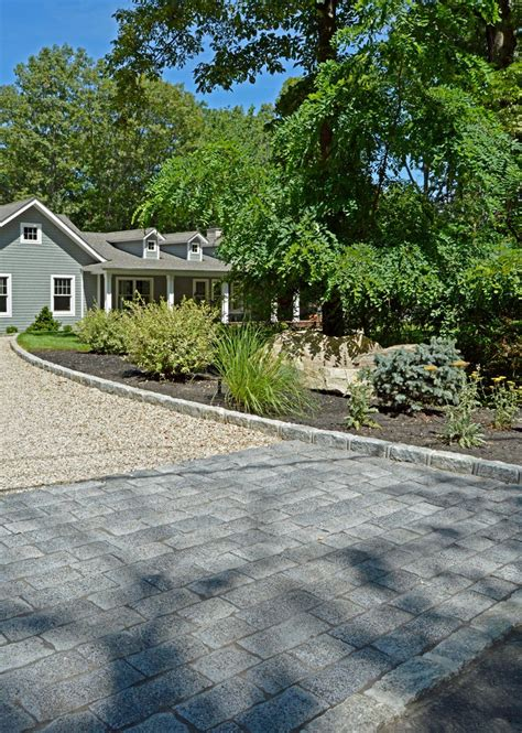 Pea Rock Driveway This Port Jefferson Home Achieves Elegance And