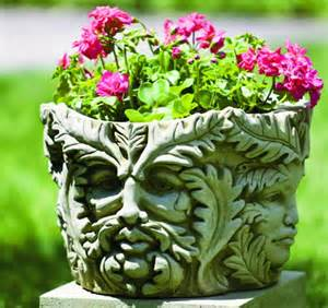 Flower Pots With Faces On Them by Inspire Bohemia Stone Head Garden Planters