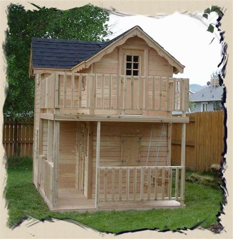 outside playhouse plans pdf diy elevated outdoor playhouse plans download easy