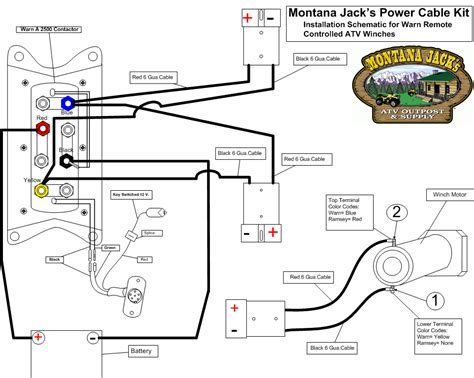 warn atv winch wiring diagram for polaris warn winch m8000