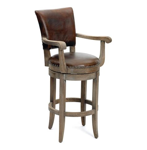 leather top bar stools modern rustic lodge top grain leather bar stool kathy