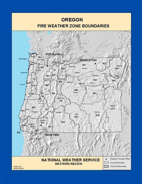 map of oregon zones maps oregon weather zone boundaries