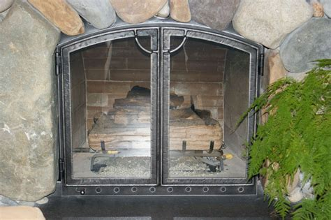 replacement fireplace screen doors fireplaces