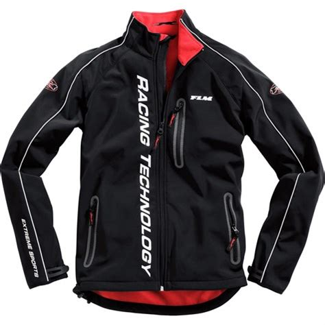 flm motor sports soft shell jacket  red
