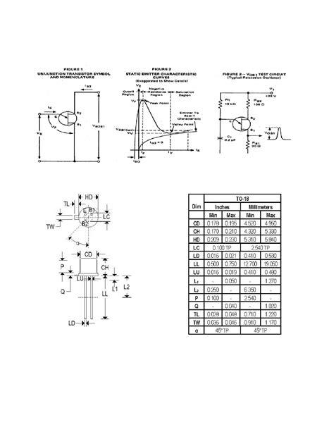 unijunction transistor datasheet unijunction transistor datasheet 28 images 2n2418a datasheet pdf pinout silicon unijunction