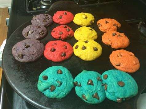 rainbow colored cookies