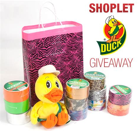 Ducks Giveaways - 5 bags of duck tape to win shoplet blog