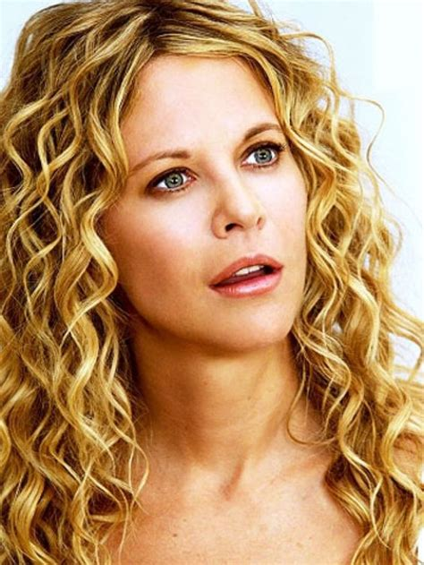 permed hairstyles for square fasce loose curl perm meg ryan has beautiful medium length