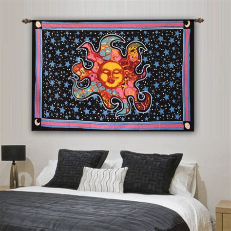celestial home decor home accessory celestial burning sun wall tapestry home