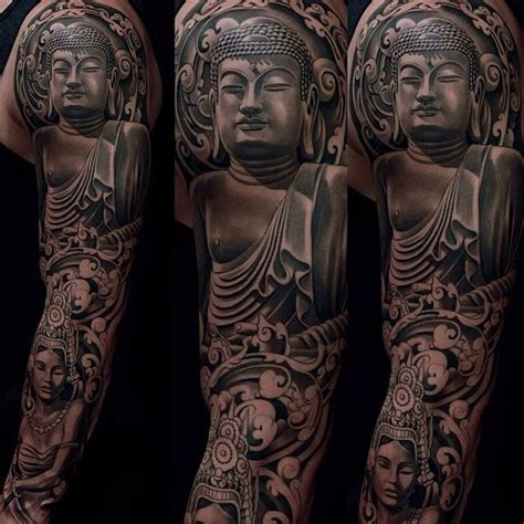 buddhist sleeve tattoo designs 25 meaningful buddha tattoos for spiritual inspiration