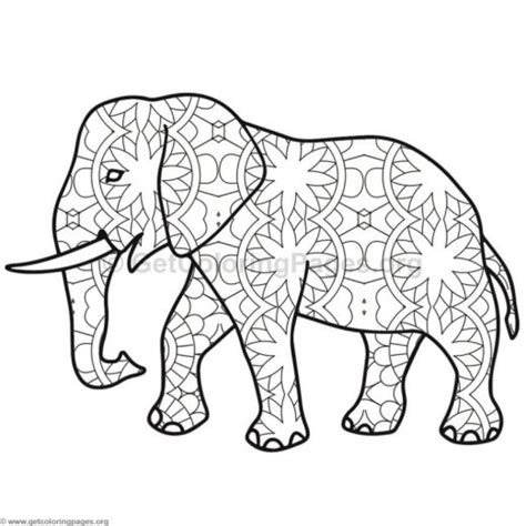 zen coloring pages elephant best adult printable elephant difficult hard zen coloring