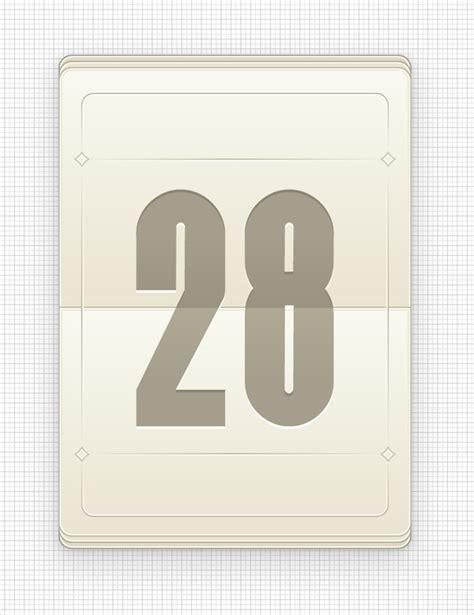 blank daily flip calendar create a vector daily flip calendar