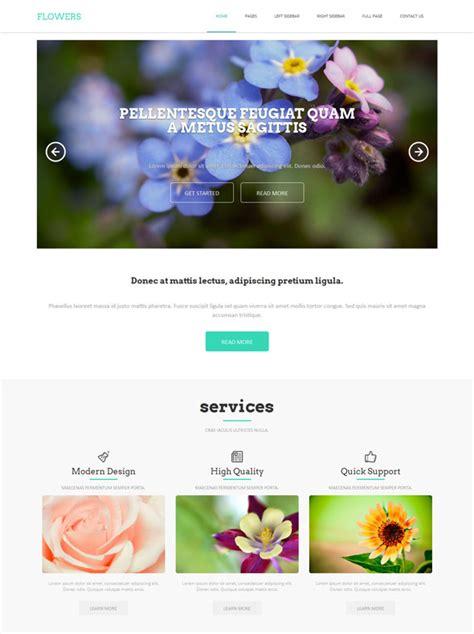 Wedding Flower Websites by Wedding Flower Html Template Flower Website Templates
