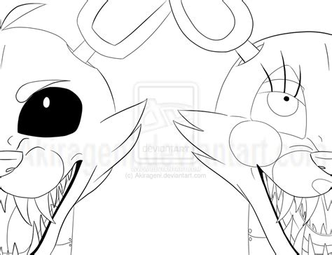 fnaf coloring pages foxy fnaf foxy and mangle wip by akirageni on deviantart