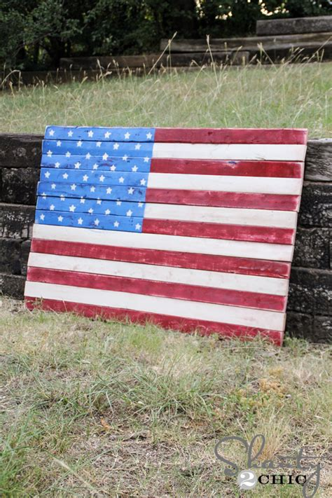 Wood Pallet Art American Flag Shanty 2 Chic Template For Pallet Flag