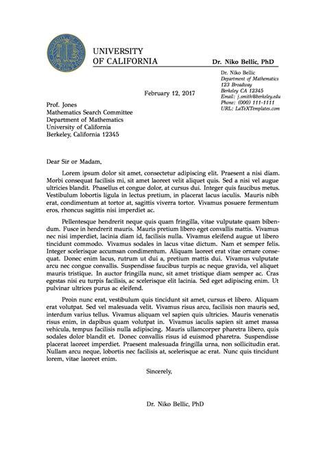 Formal Letter Layout