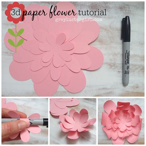 How To Make A 3d Flower Out Of Construction Paper - paper flowers wall