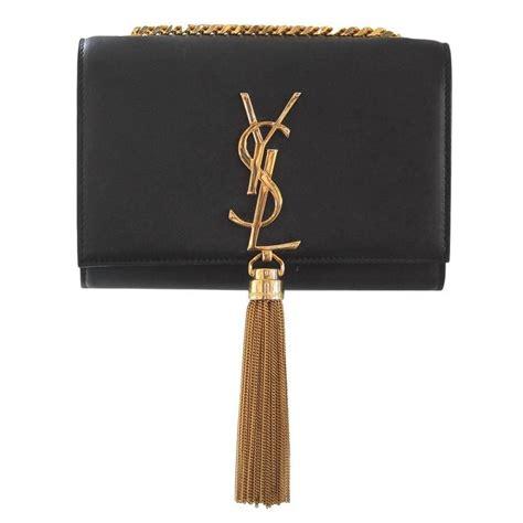 Tas Collectable Shoulder Bag laurent small black leather kate monogram