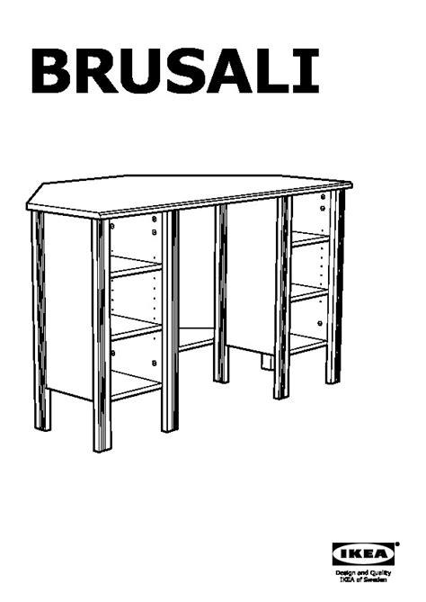 BRUSALI Bureau d'angle brun (IKEA France)   IKEAPEDIA