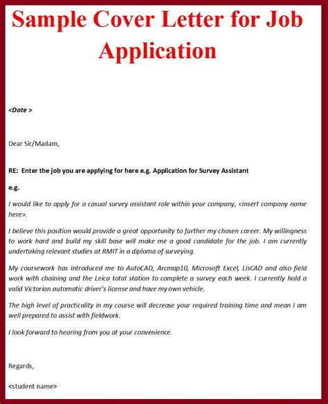 how to make cover letter for application cover letter exle