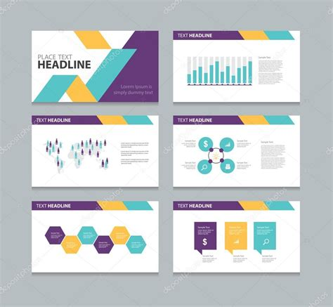 design templates for kingsoft presentation seite pr 228 sentation layout design vorlage stockvektor