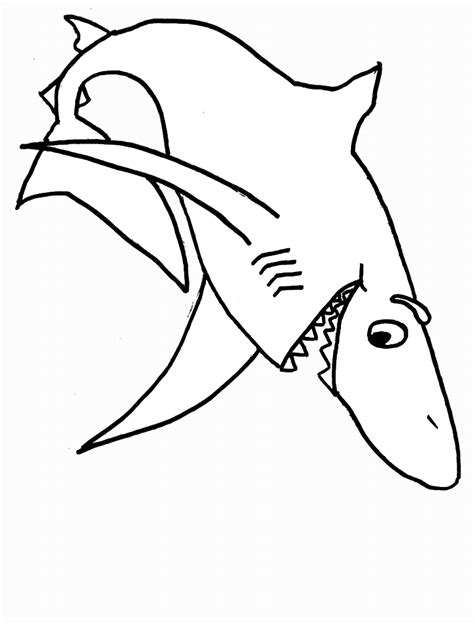 shark pictures to color shark coloring pages