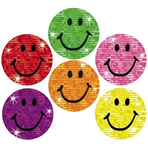 Stiker Gliter smiley stickers silly smiles glitter stickers