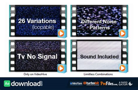 Videohive After Effects Project Footage Mega Bundle videohive tv noise no signal bundle motion graphics free after effects template