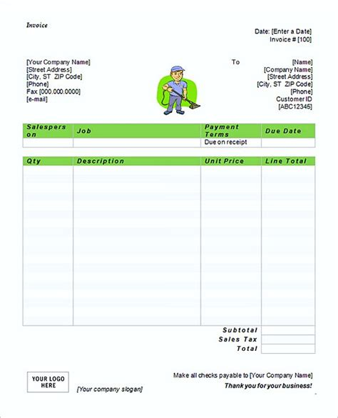 Simple Service Invoice Template Simple Invoice Template Word