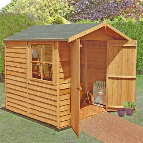 7 X 7 Garden Sheds by Shire Overlap Garden Shed 7x7 With Doors One Garden