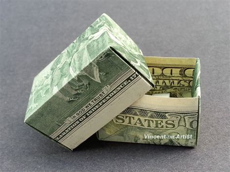 How To Make A Paper Money Box - gift box money origami dollar bill sculptors bank