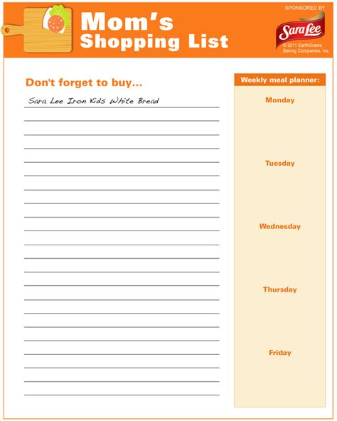 thanksgiving shopping list template shopping list free printable coloring pages