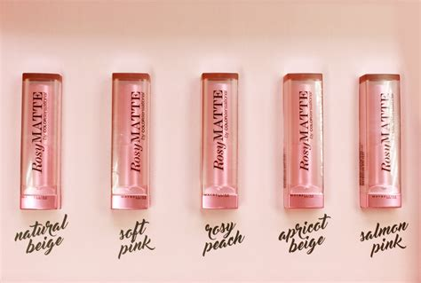 Maybelline Rosy Matte see the new pink mattes from maybelline