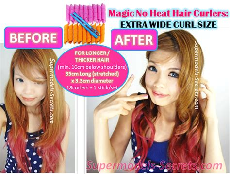 Hair Curler Without Heat by Supermodels Secrets Magic No Heat Hair