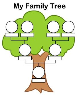 family tree template for kindergarten free printable family tree by wallace teachers pay