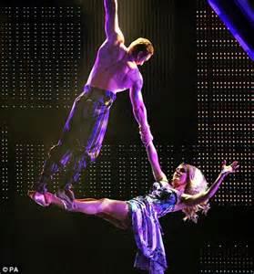 acrobatic swing operastar to acrobat katherine jenkins manages big top