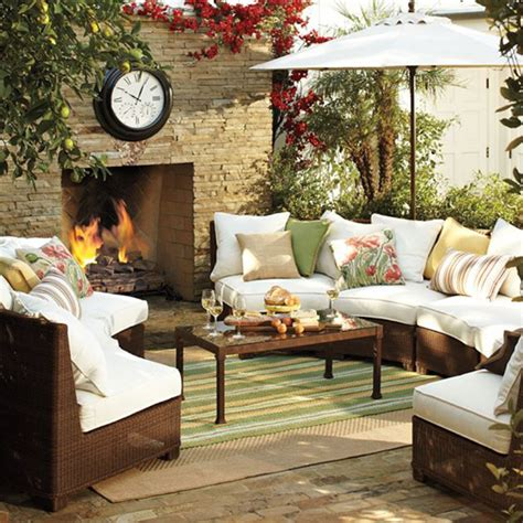 outside living room cozy outdoor living room design