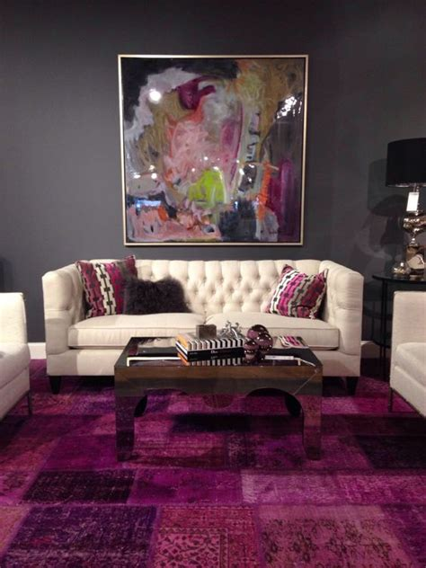 Plum And Gray Living Room by A High Fashioned Home Grey The Purple And The
