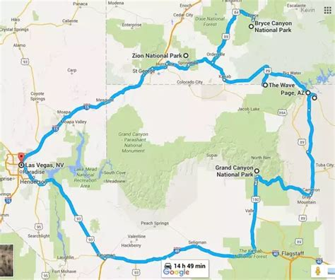 grand maps las vegas what is a itinerary for a week trip to the grand
