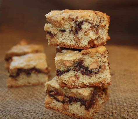 peanut butter bars with chocolate chips melted on top peanut butter chocolate bars