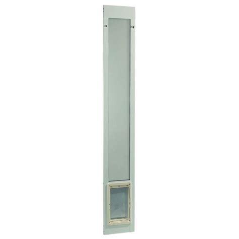 Pet Patio Door Ideal Pet 7 In X 11 25 In Medium White Aluminum Pet Patio Door Fits 77 6 In To 80 4 In