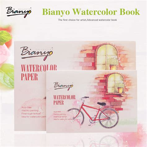 sketchbook watercolor paper bianyo 230gsm a5 a6 12 sheets watercolor paper sketch book