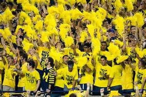 michigan student section student section at michigan football game is nearly empty