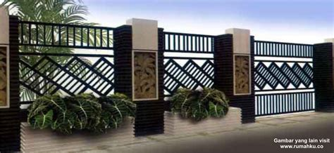 desain gambar pagar kombinasi desain pagar minimalis info bisnis properti
