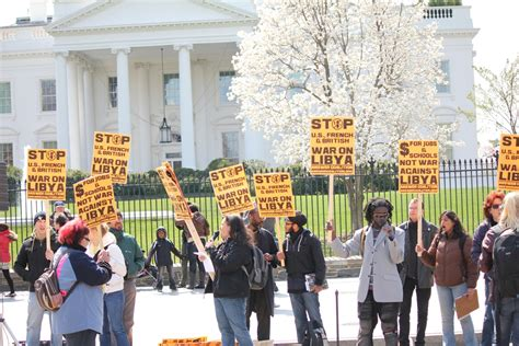 Protest At White House Demands U S Withdrawal From