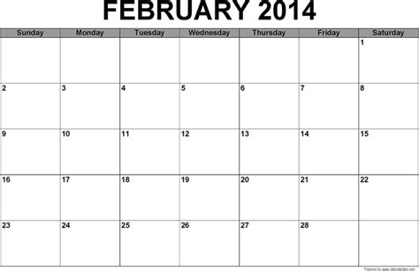 February 2014 Calendar   Download Free & Premium Templates