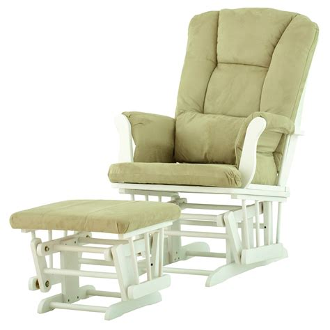 cheap glider and ottoman set for nursery vintage shermag bent wood glider rocker with white tufted