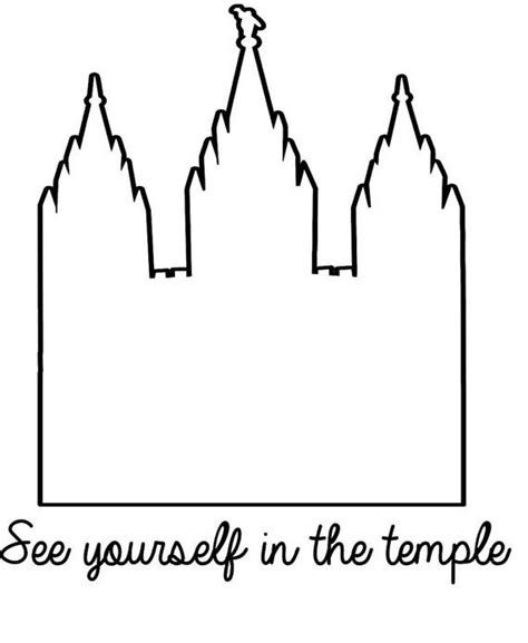 See Yourself In The Temple Vinyl Decal Decor With Lds Lds Temple Template