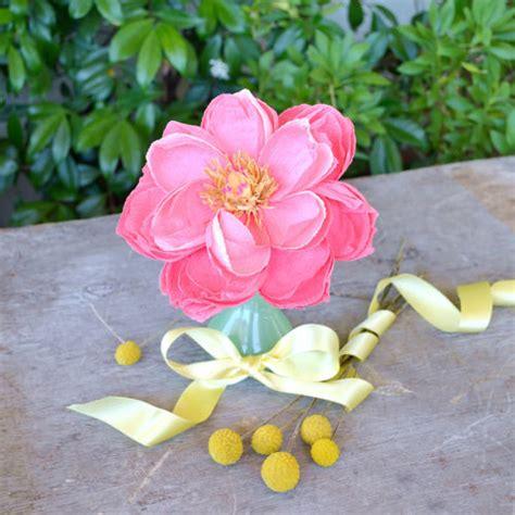 fiori di carta pesta peonia di carta crespa rosa la figurina shop