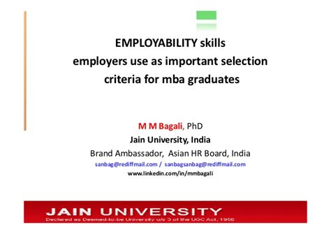 Mba Hrn by Mm Bagali Mba Hrm Hrd Skills And Competency